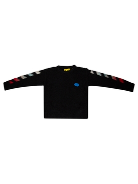 KID'S OFF BRUSHED SWEATER BLACK AND MULTICOLOR