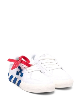 KID'S LOW VULCANIZED SNEAKERS WHITE AND BLUE