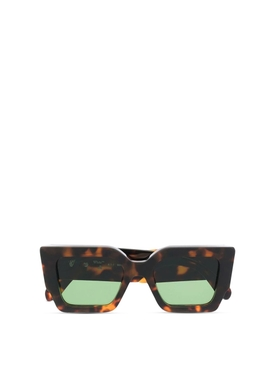 CATALINA SQUARE SUNGLASSES BROWN AND GREEN
