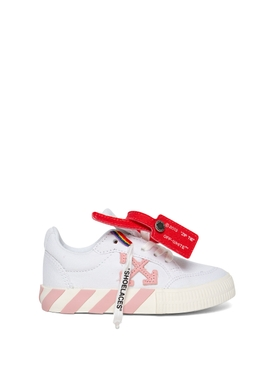 KID'S LOW VULCANIZED SNEAKER WHITE AND PINK
