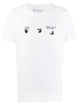 Slim-fit logo t-shirt WHITE/BLACK