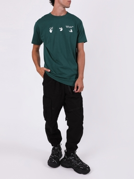 Slim-fit logo t-shirt GREEN/WHITE