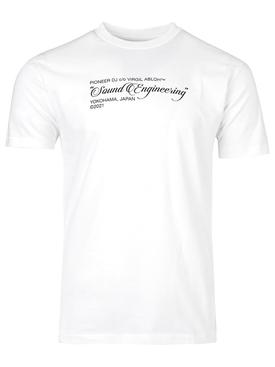 X Pioneer Sound Engineering T-shirt White