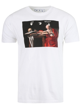 Carravaggio Graphic T-Shirt White Red