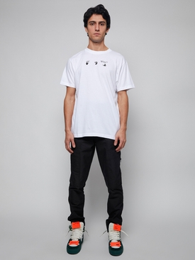 Peace worldwide short sleeve slim tee WHITE