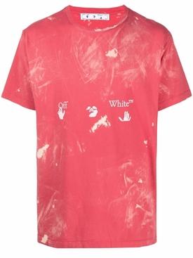 Vintage bleach logo tee, SAMBA RED