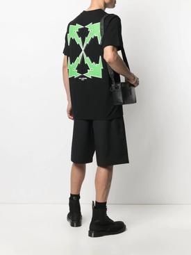 Slim-fit Bolt Arrow Logo T-shirt BLACK AND GREEN