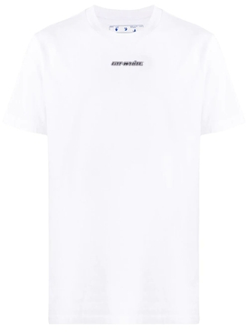 Marker logo t-shirt WHITE/BLUE