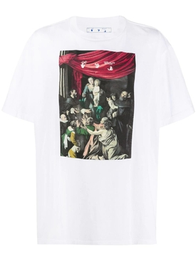 Caravaggio painting t-shirt WHITE/BLACK