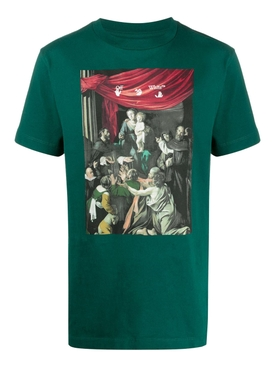 Caravaggio painting t-shirt GREEN/WHITE