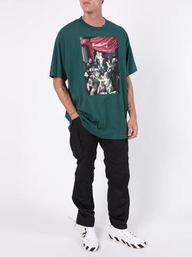 Caravaggio painting t-shirt GREEN/WHITE