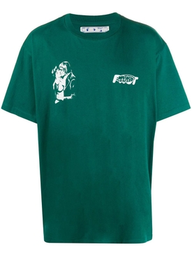 Kiss 21 t-shirt GREEN/WHITE