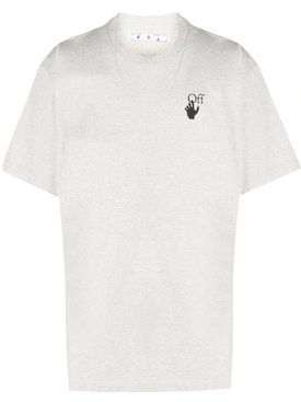 Grey Melange Logo print t-shirt