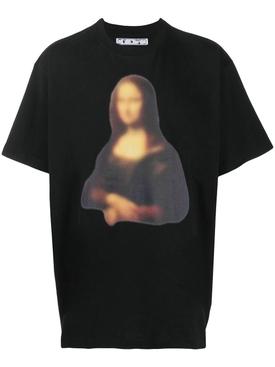 Blurred Mona Lisa t-shirt BLACK