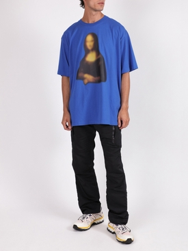 Blurred Mona Lisa t-shirt BLUE
