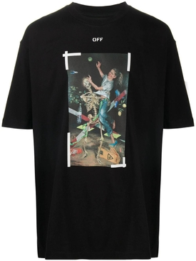 Pascal print t-shirt BLACK