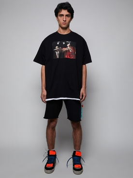 Caravaggio short sleeve over tee BLACK