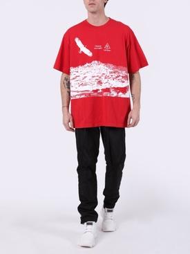 Eagle Landscape T-Shirt RED/WHITE