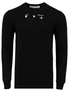 Marker Logo Long-Sleeve T-shirt, Black
