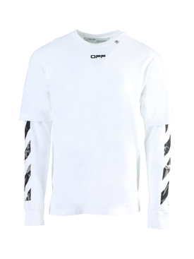 Caravaggio double sleeve t-shirt WHITE