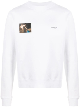 Caravaggio angel sweatshirt WHITE/BLACK