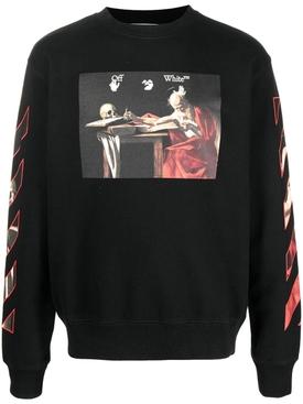 Caravaggio slim crewneck Black Red