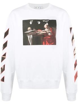 Caravaggio slim crewneck White Red