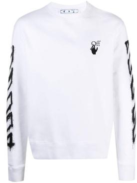 Spray marker long-sleeve t-shirt, white