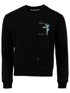 Adam is eve crewneck sweatshirt, black