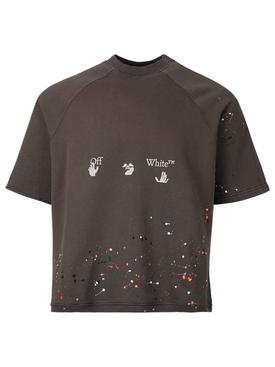 Vintage paint crewneck t-shirt, MAGNET GREY