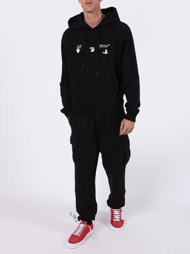 Slim-fit logo hoodie BLACK WHITE