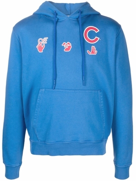 X CHICAGO CUBS HOODIE BLUE AND RED