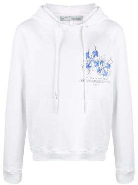 Fence Arrow Logo Hoodie WHITE/BLUE