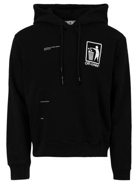 Take care hoodie, black and white