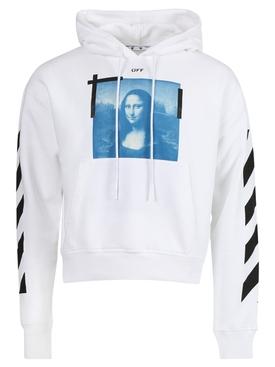Blue Mona Lisa Hoodie White Black