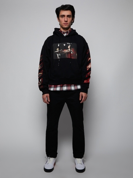 Caravaggio over hoodie BLACK RED