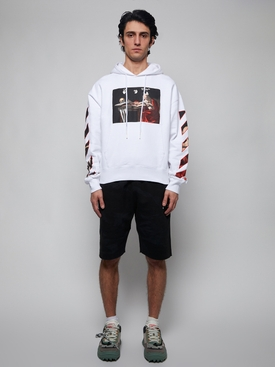 Caravaggio over hoodie WHITE RED