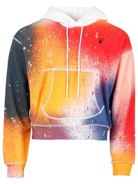 X Katsu Spray Paint Hooded sweatshirt