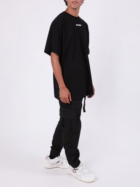 Black nylon cargo pants