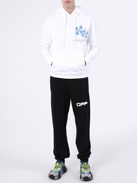 Airport Tape Logo Sweatpants BLACK