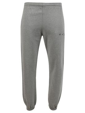 slim fit sweatpants, mélange grey