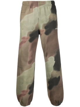 Camouflage print sweat pants