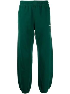 Dark green sweat pants