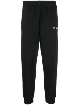 OW Logo Cuffed Sweatpant, Black White