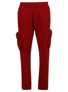 Cargo Sweatpants, Samba Red and Black