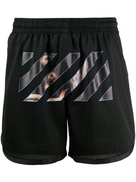 Caravaggio Print Mesh shorts BLACK