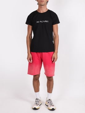 Gradient sweat shorts RED BLACK