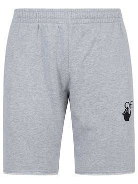 Marker sweatshorts Melange Grey Red