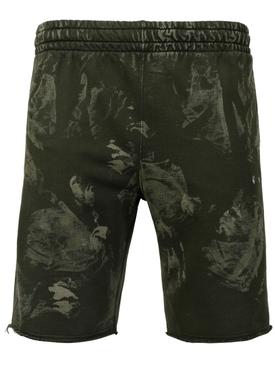 Vintage bleach sweat shorts, KOMBU GREEN