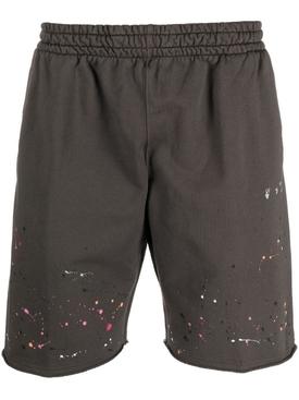 Vintage paint sweat shorts, magnet grey